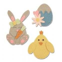663492 - Sizzix Bigz L Die - Bunny, Chick and Egg